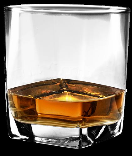 bourbon glass transparent