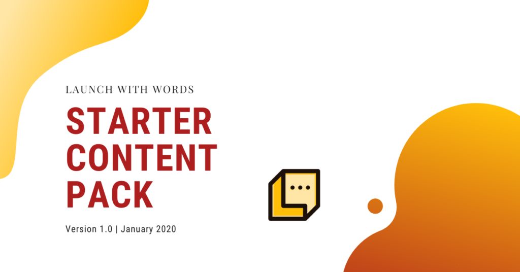 featured image launch with words starter content pack